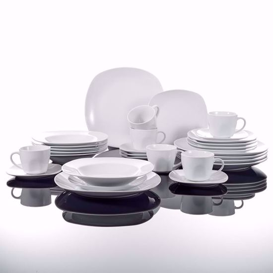 Malacasa Series Elisa 30 Piece Ivory White Porcelain Dinner Set With 6 Cups Saucers Dessert Plates Soup And